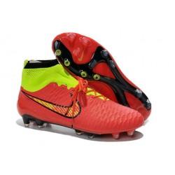 Nike Magista Obra FG ACC Mens Football Shoes Red Gold Volt