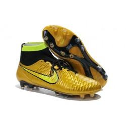 Nike Magista Obra FG ACC Mens Football Shoes Golden Black