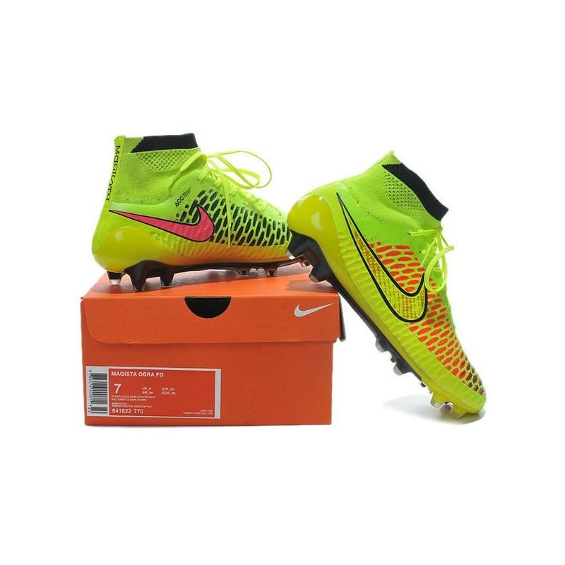 051b6ec0747c8 Nike Magista Obra FG ACC Mens Football Shoes Volt Gold Hyper Punch