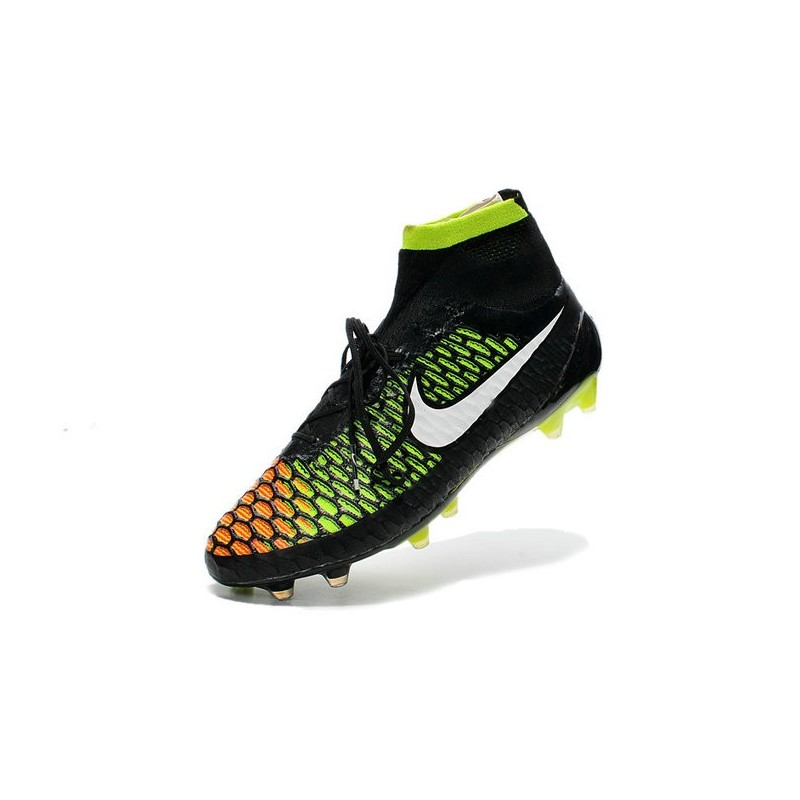 cheap for discount 806bc 8eeff New Nike Magista Obra FG Firm Ground Soccer Boots Black White Hyper Punch