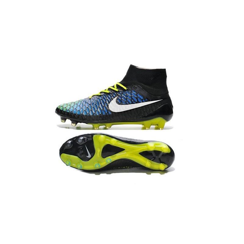 promo code 14ba2 9c963 New Nike Magista Obra FG Firm Ground Soccer Boots Black Blue White