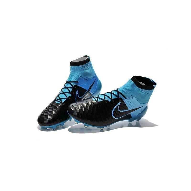 low priced 88ddc d032d ... good nike high top magista obra fg acc soccer cleats leather black blue  fb38d 984d0