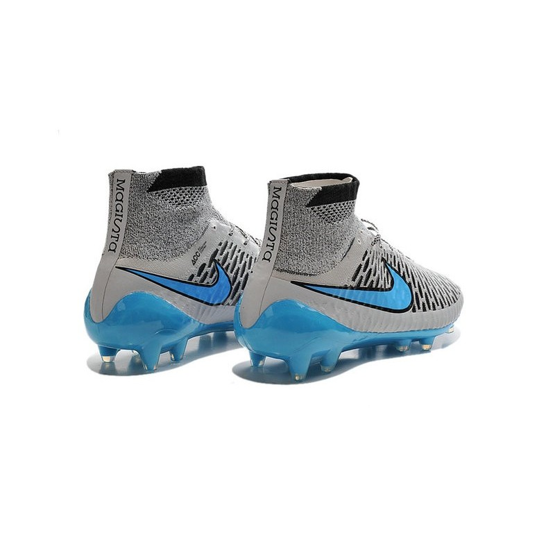 8e6273cd0074 Nike High Top Magista Obra FG ACC Soccer Cleats Wolf Grey Turquoise Blue