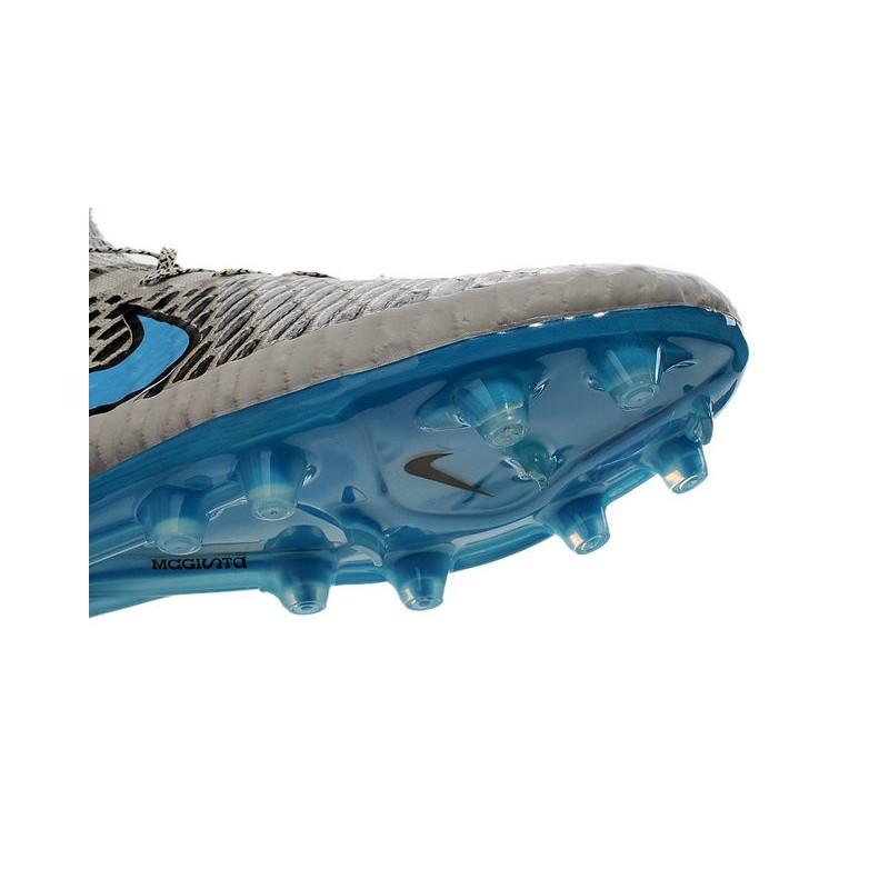 331ff61ffc7d Nike High Top Magista Obra FG ACC Soccer Cleats Wolf Grey Turquoise Blue