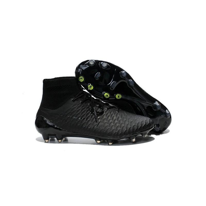 Nike High Top Magista Obra FG ACC Soccer Cleats All Black c8299e022