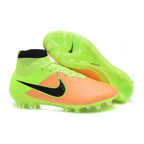 f509266493d5 Nike High Top Magista Obra FG ACC Soccer Cleats Leather Yellow Black