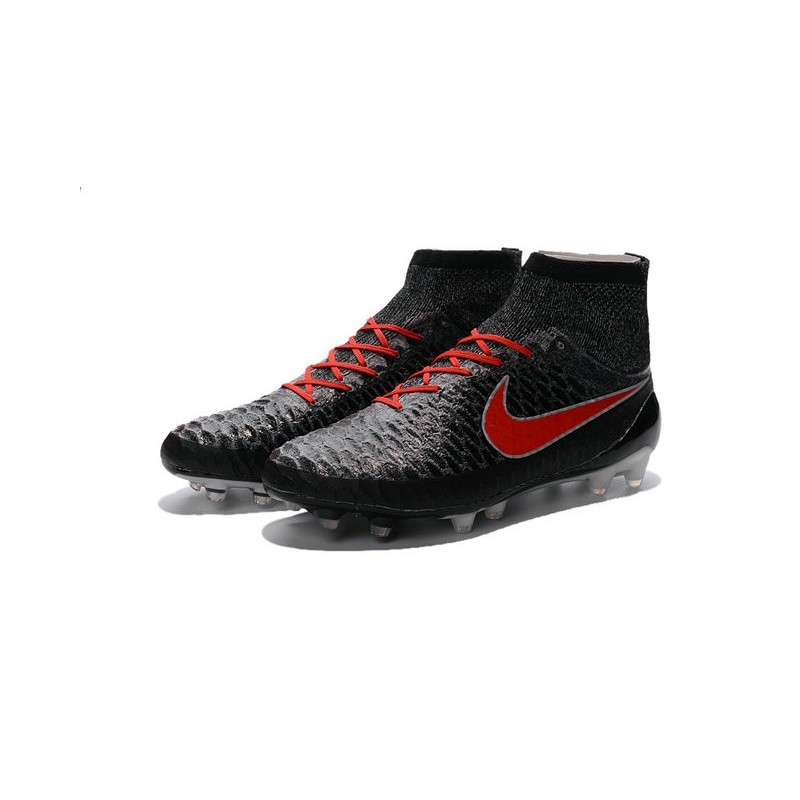 Nike High Top Magista Obra Fg Acc Soccer Cleats Black Crimson