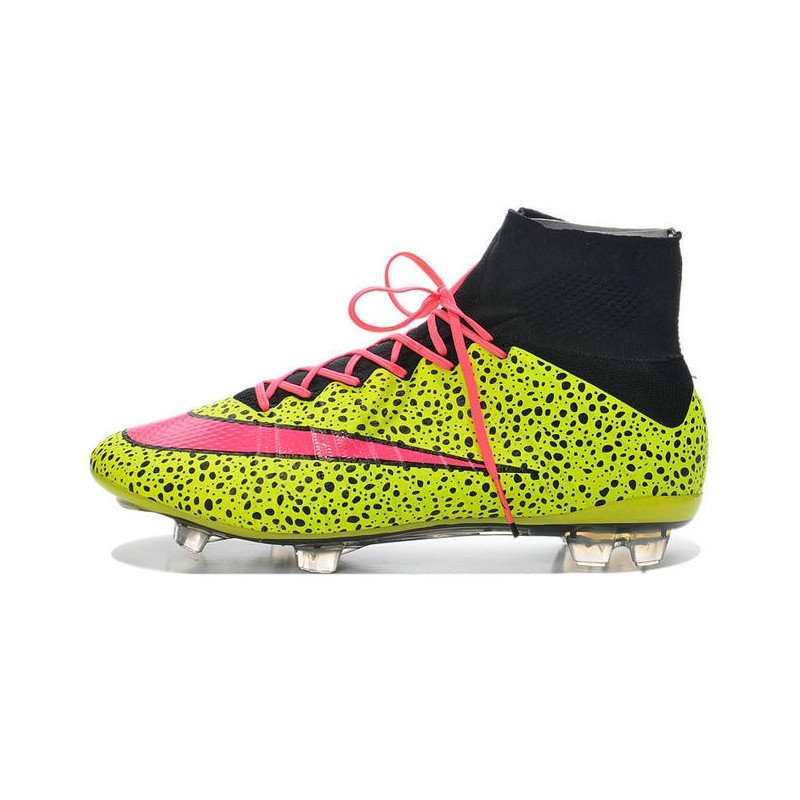 wholesale dealer bbd03 a30d6 Cristiano Ronaldo Nike Mercurial Superfly 4 FG Soccer Boots Safari Yellow  Pink