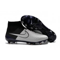New Top 2016 Nike Magista Obra FG Football Boot Leather White Black
