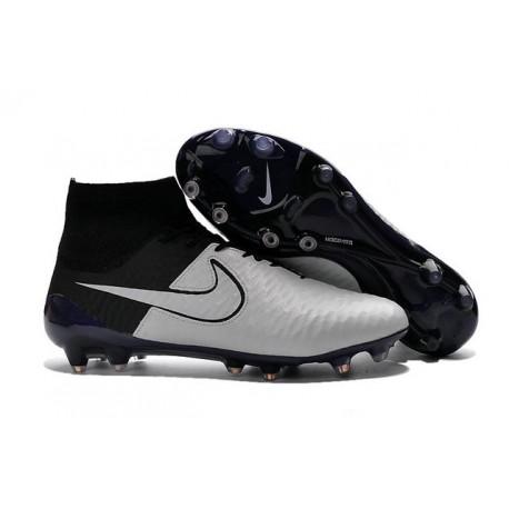 New Top 2016 Nike Magista Obra FG Football Boot Leather White Black