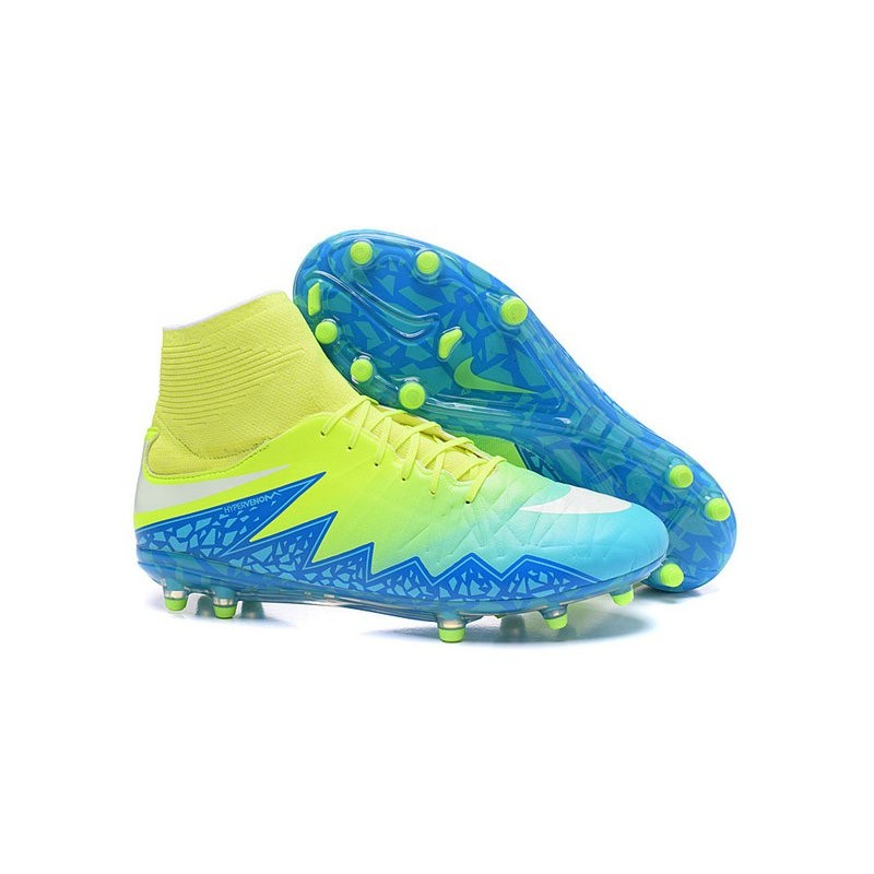 Nike Hypervenom Phantom II FG 2016 Mens Soccer Shoes Green Blue White 1b237e3da
