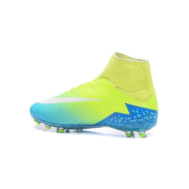 0e02e06fa38 Nike Hypervenom Phantom II FG 2016 Mens Soccer Shoes Green Blue White