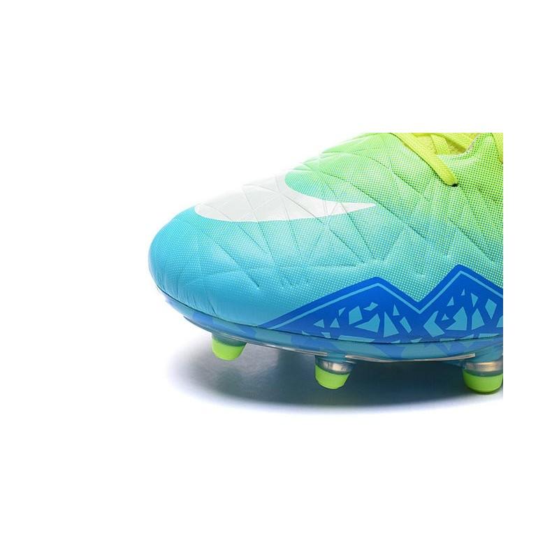 c23068fbc56904 Nike Hypervenom Phantom II FG 2016 Mens Soccer Shoes Green Blue White
