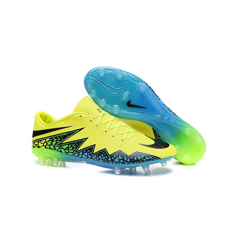 2e1bc6f7b461 Neymar Nike Hypervenom Phinish FG Firm Ground Soccer Cleats Volt Black  Turquoise