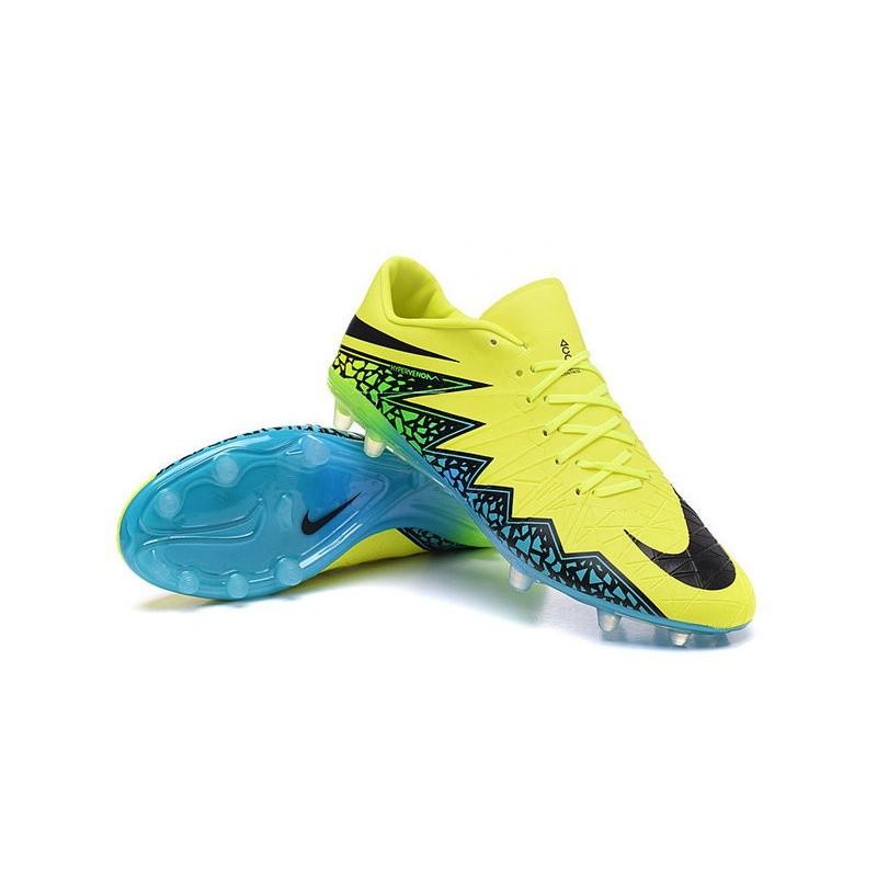 4de39cdc28 Neymar Nike Hypervenom Phinish FG Firm Ground Soccer Cleats Volt Black  Turquoise