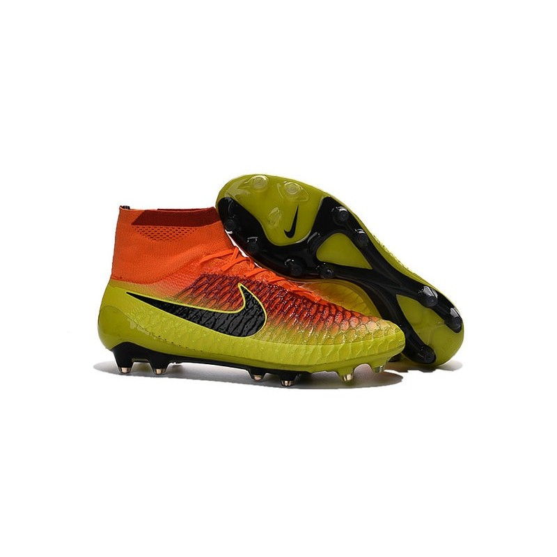 Nike Magista Obra FG ACC Champions League Soccer Boots Crimson Citrus Black