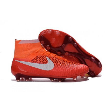 Nike Magista Obra FG ACC Champions League Soccer Boots Red White