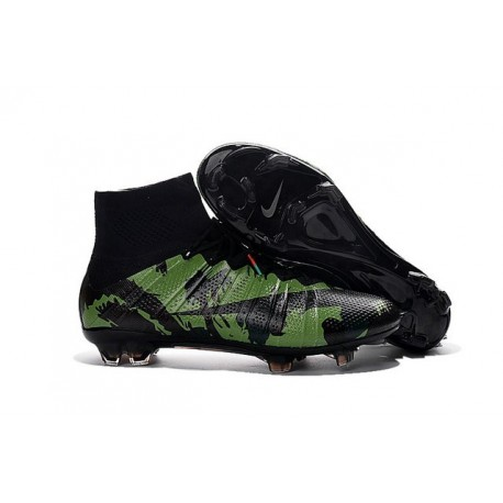 Cristiano Ronaldo New Soccer Boot Nike Mercurial Superfly FG Camo Green Black