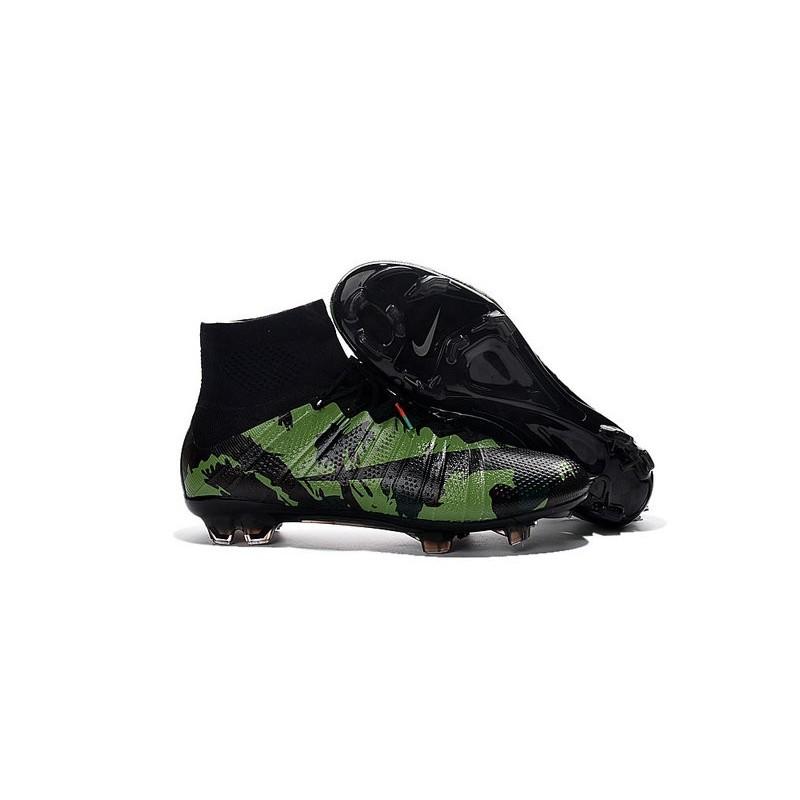 Cristiano Ronaldo New Soccer Boot Nike Mercurial Superfly FG Camo Green  Black