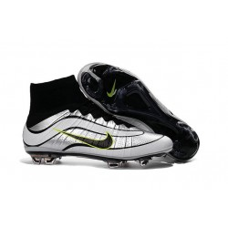 Top New Nike Mercurial Superfly Heritage Soccer Boots in White Black
