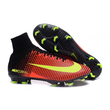 8a2ab51b760 Cristiano Ronaldo New Nike Mercurial Superfly V FG Boots Crimson Volt Pink  Black
