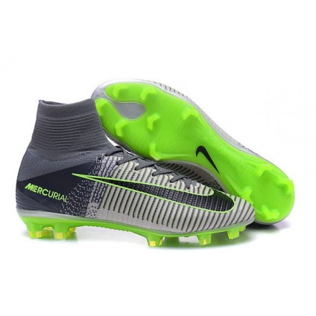 f33422af4e6c Cristiano Ronaldo New Nike Mercurial Superfly V FG Boots in Grey Black