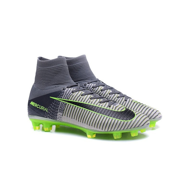 b7b89991d2bd Cristiano Ronaldo New Nike Mercurial Superfly V FG Boots in Grey Black