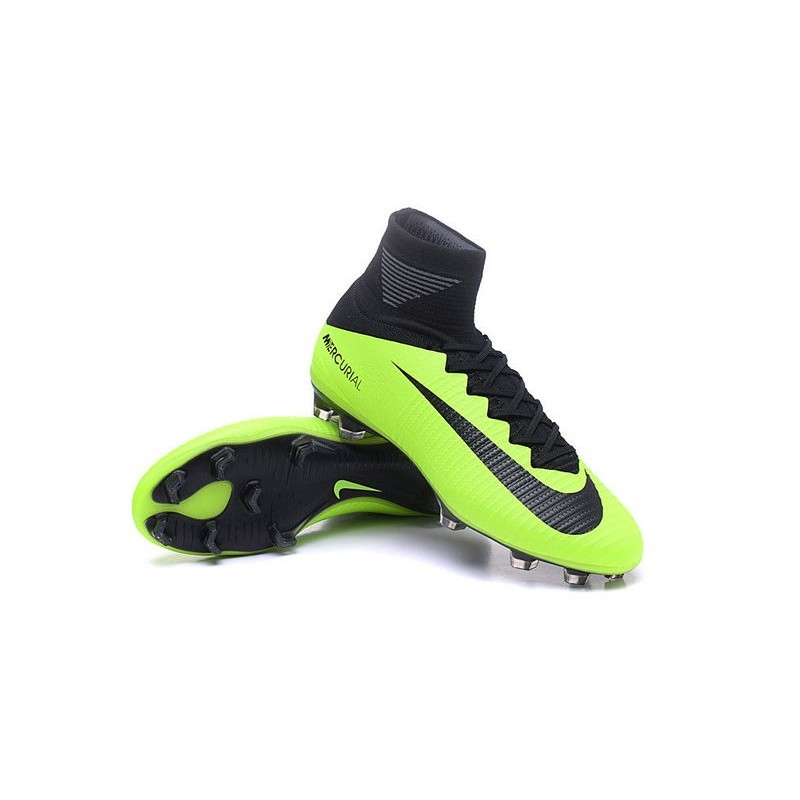 17015bf0ef26 ... france cristiano ronaldo new nike mercurial superfly v fg boots green  black 74459 ff135