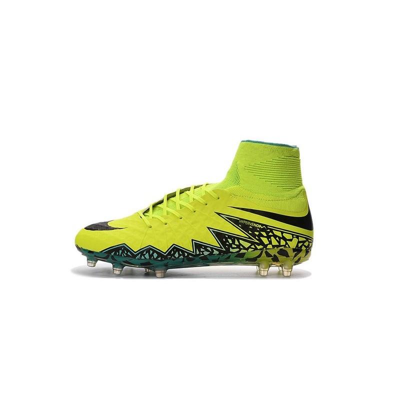 9129976ab2c1 Nike Hypervenom Phantom II FG 2016 Mens Soccer Shoes Volt Black
