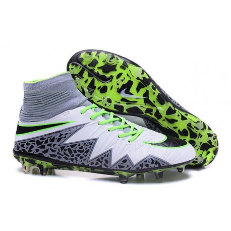 Nike Hypervenom Phantom II FG 2016 Mens Soccer Shoes White Black Green