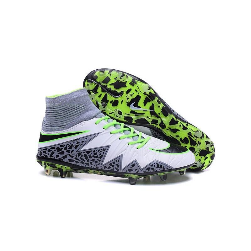 Nike Hypervenom Phantom II FG 2016 Mens Soccer Shoes White Black Green 43218eaed1d6e