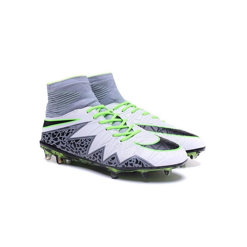 purchase cheap b0854 5c021 Nike Hypervenom Phantom II FG 2016 Mens Soccer Shoes White Black Green