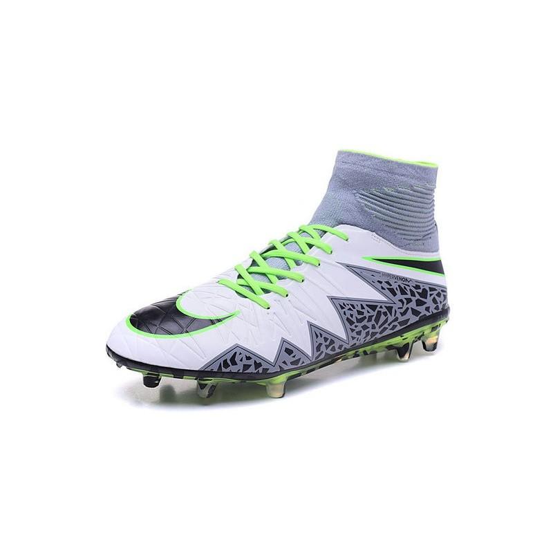 purchase cheap bdc51 a987c Nike Hypervenom Phantom II FG 2016 Mens Soccer Shoes White Black Green