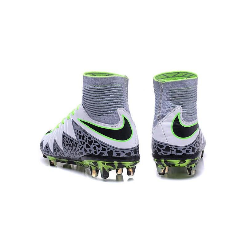 40b76064459d Nike Hypervenom Phantom II FG 2016 Mens Soccer Shoes White Black Green
