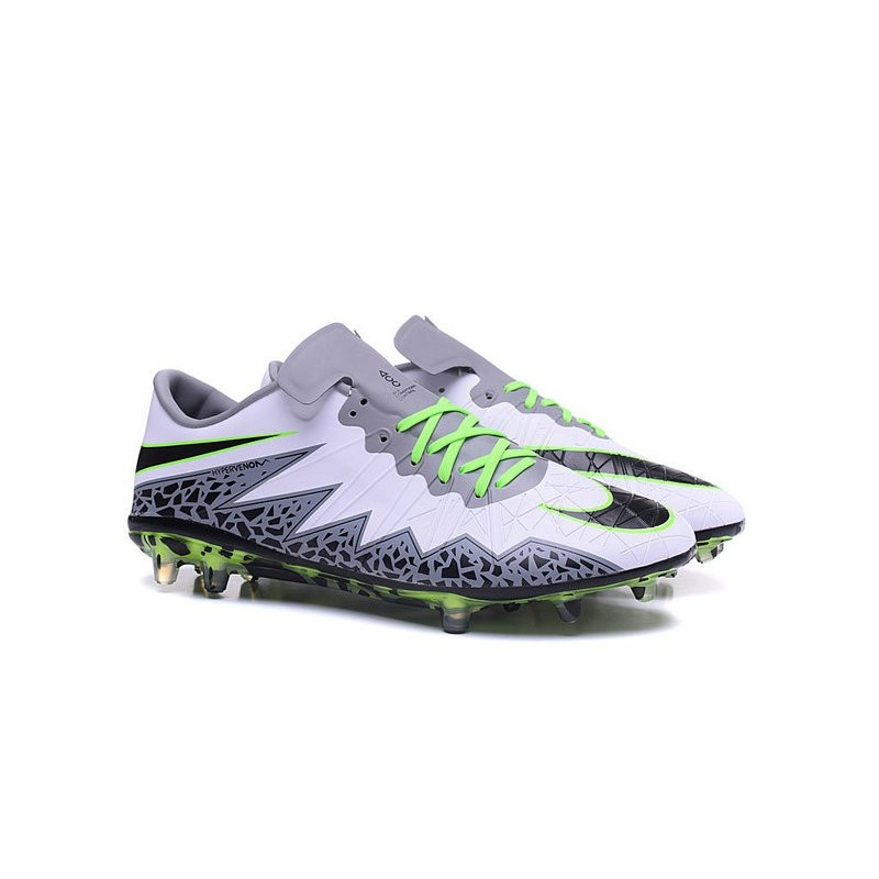 Neymar Nike Hypervenom Phinish FG Firm Ground Soccer Cleats White Black  Green a627bc9d02f7