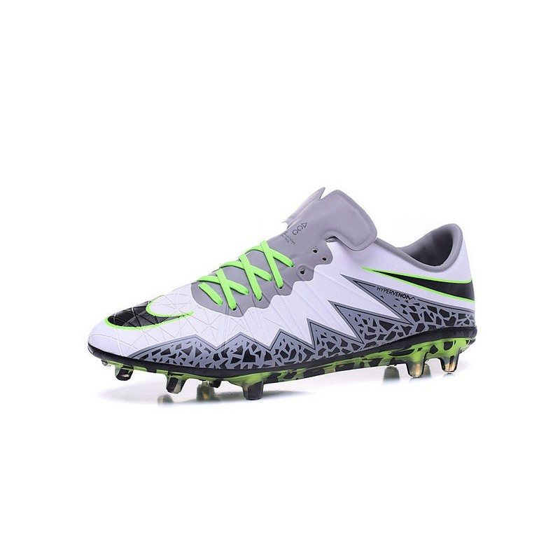8226b44ec Neymar Nike Hypervenom Phinish FG Firm Ground Soccer Cleats White Black  Green