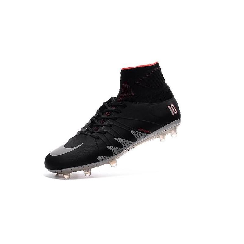 Nike Hypervenom Phantom II FG 2016 Neymar Jordan Black Soccer Shoes ee4e552fb
