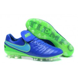Nike Tiempo Legend 6 ACC FG Kangaroo Leather Cleats Blue Green