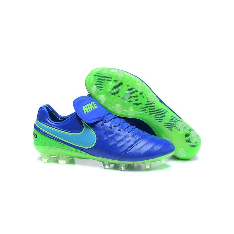 low priced f71c7 80914 Nike Tiempo Legend 6 ACC FG Kangaroo Leather Cleats Blue Green