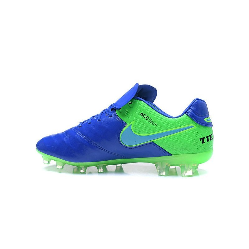 low priced 134fc 70178 Nike Tiempo Legend 6 ACC FG Kangaroo Leather Cleats Blue Green