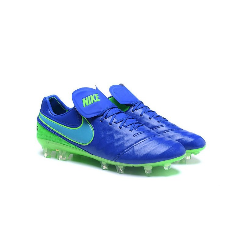 low priced 9aa5e 18e29 Nike Tiempo Legend 6 ACC FG Kangaroo Leather Cleats Blue Green