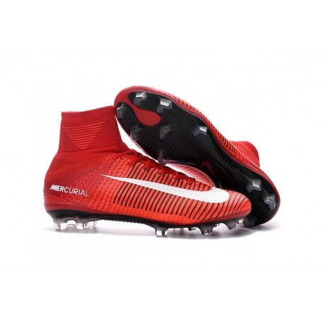 Cristiano Ronaldo New Nike Mercurial Superfly V FG Boots Red White