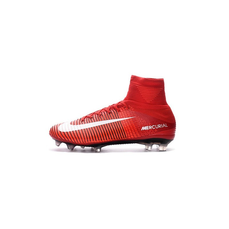 Cristiano Ronaldo New Nike Mercurial Superfly V FG Boots Red White 40d21bef9