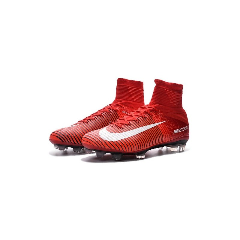 cristiano ronaldo new nike mercurial superfly v fg boots red white maximize. previous. next
