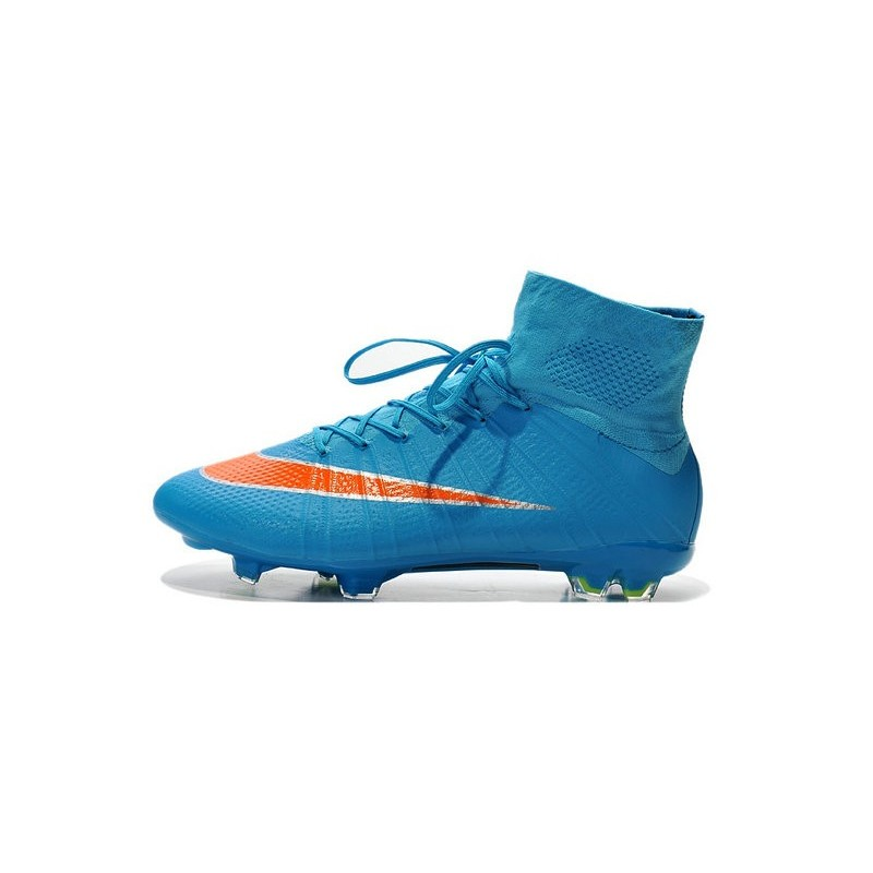 2742c80bee783 Cristiano Ronaldo Nike Mercurial Superfly 4 FG Soccer Boots Blue Orange