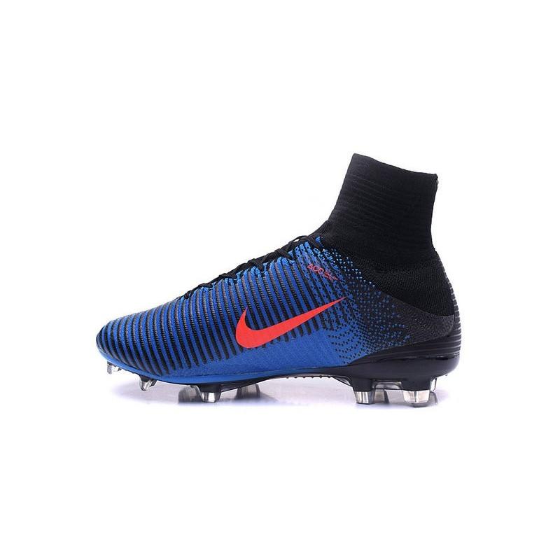 Cristiano Ronaldo New Nike Mercurial Superfly V FG Boots Blue Orange Black 9278dc9ad11e7