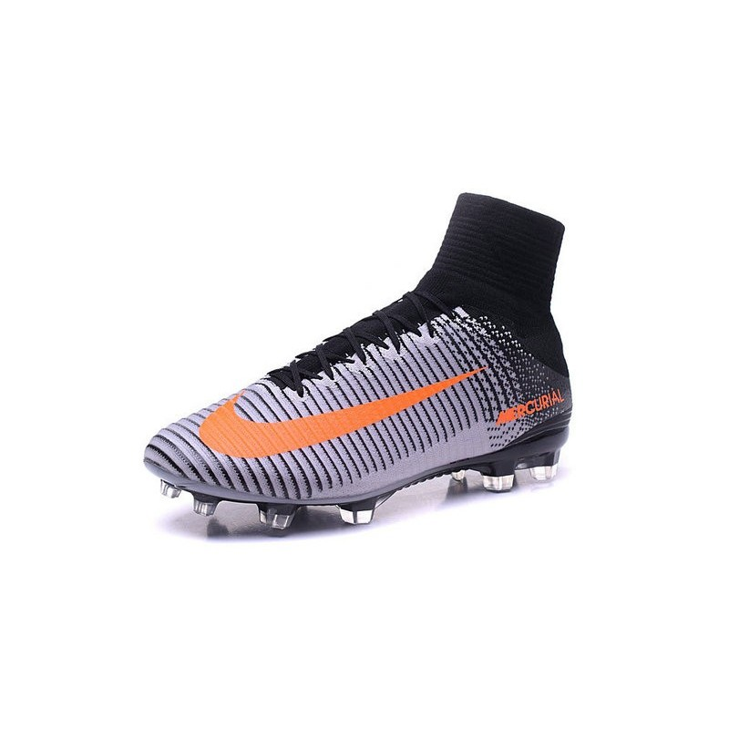 a18d50a57 Nike Mercurial Superfly V ACC FG Top 2016 Soccer Cleats White Black Orange