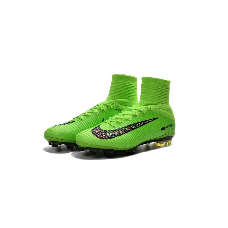 2ae029590 Nike Mercurial Superfly V ACC FG 2016 Top Soccer Cleats Green Black