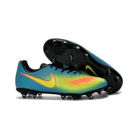 Nike Magista Opus FG ACC Cheap Football Boot Blue Yellow Orange