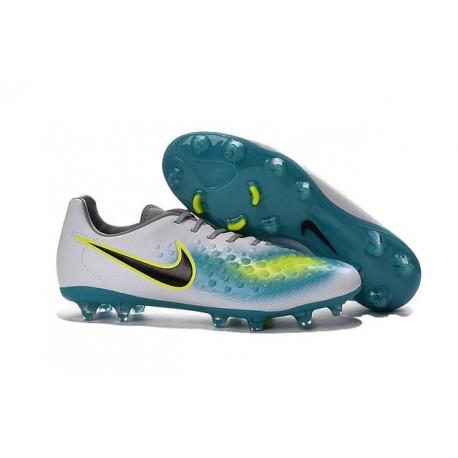 Nike Magista Opus FG ACC Cheap Football Boot White Blue Black
